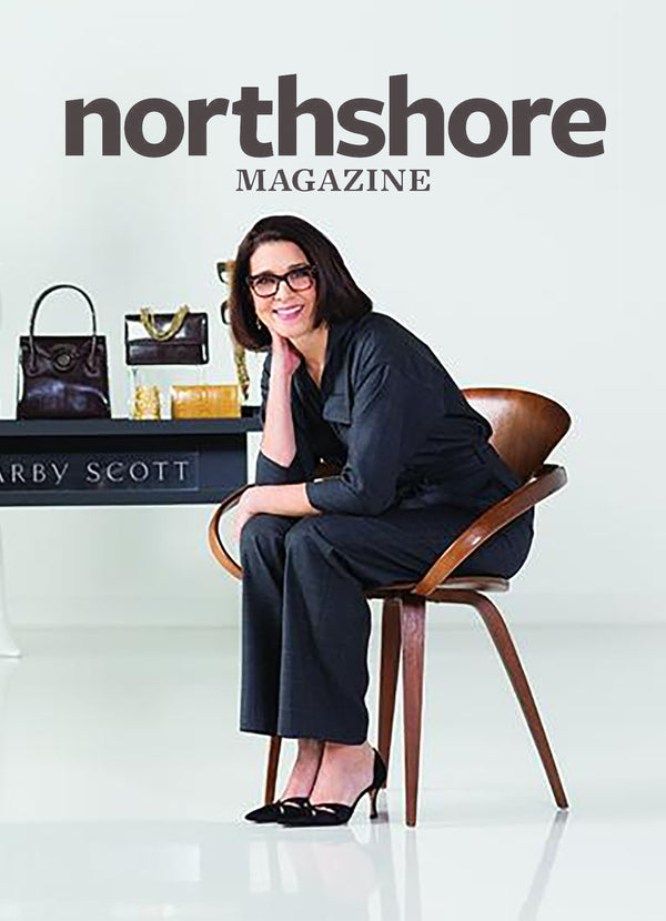 NShoreMag.com - April 2016 Designer Darby Scott on cover of North Shore magazine