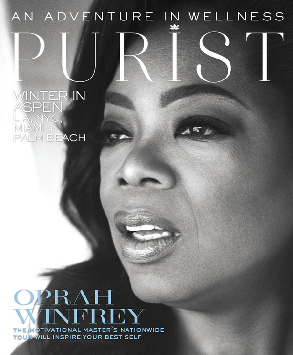 Purist Holiday 2019 Oprah Winfrey on Purist Holiday 2019 Cover