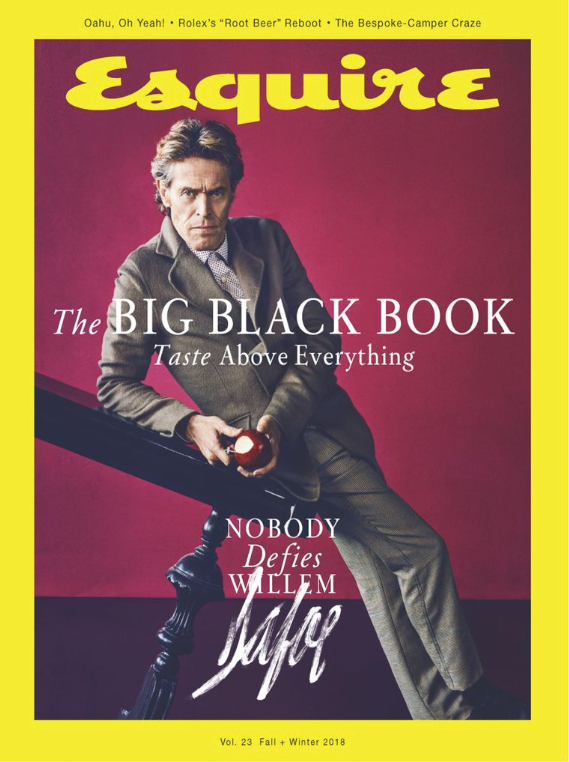 Esquire - Big Black Book Fall Winter 2018 Willem Defoe on cover of Esquire Big Black Book Fall-Winter 2018
