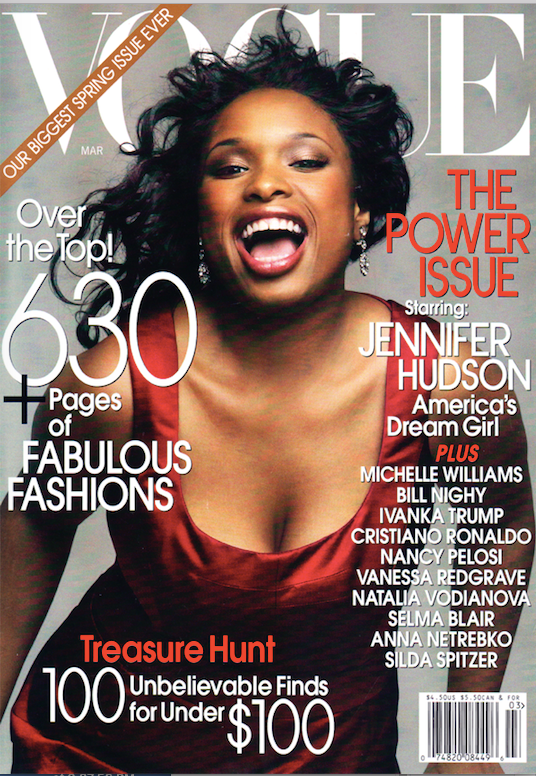 Vogue magazine cover from March 2007 featuring Jennifer Hudson