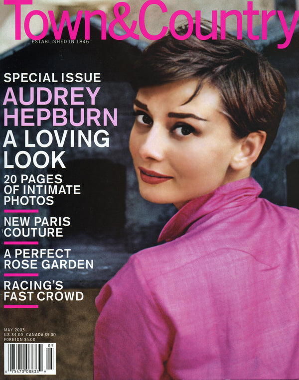 Town and Country - May 2003 Audrey Hepburn on cover of Town & Country Magazine May 2003