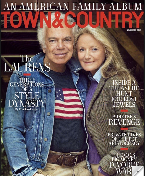 Town and Country - November 2018 The Laurens on cover of Town & Country Magazine