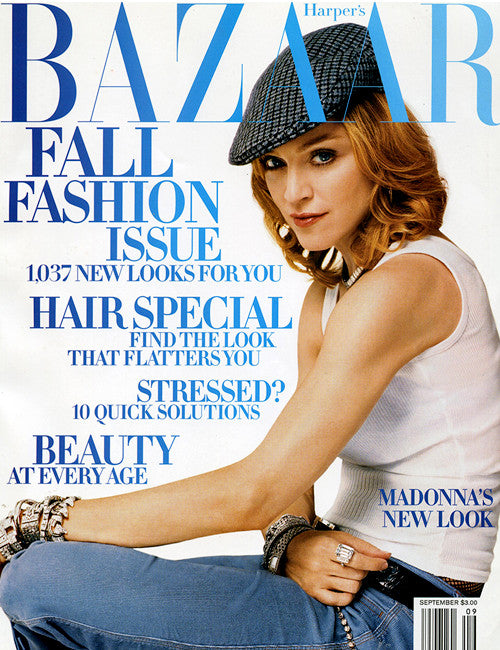 Harper's Bazaar - September Fashion cover image of Harper's Bazaar magazine featuring Madonna September issue
