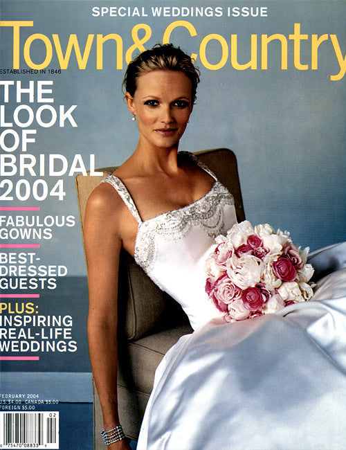 Town & Country - February 2004 Bride on cover of Town & Country Magazine February 2004