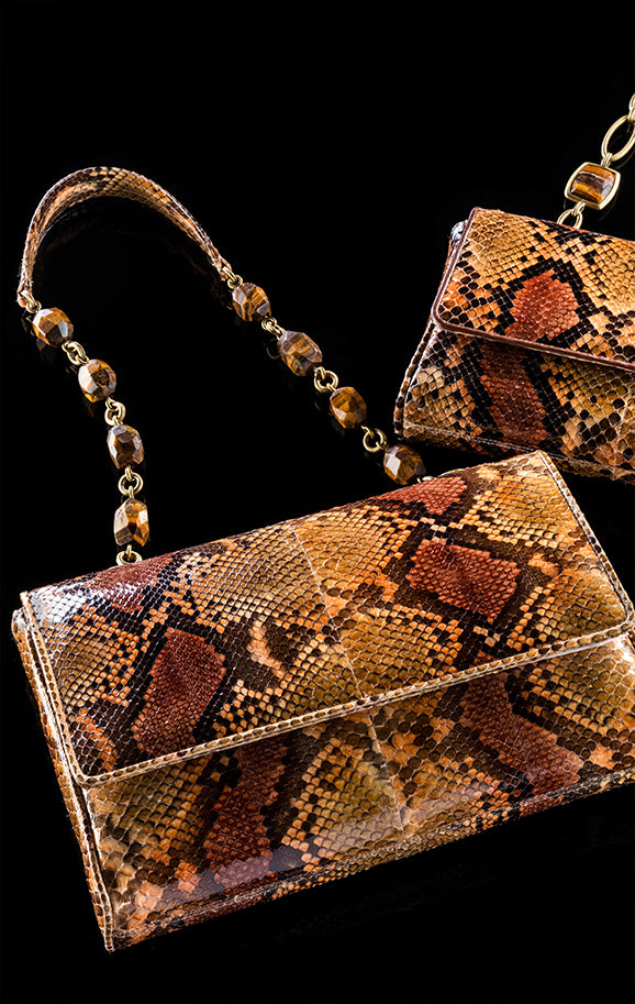 Darby Scott python Chain & Jewel handbags