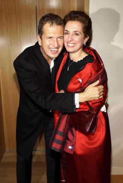 Rose Marie Bravo carrying Darby Scott handbag photographed here with Mario Testino