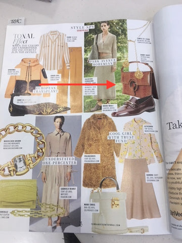 Style Spy in T&C features products including Darby Scott Grommet Handbag