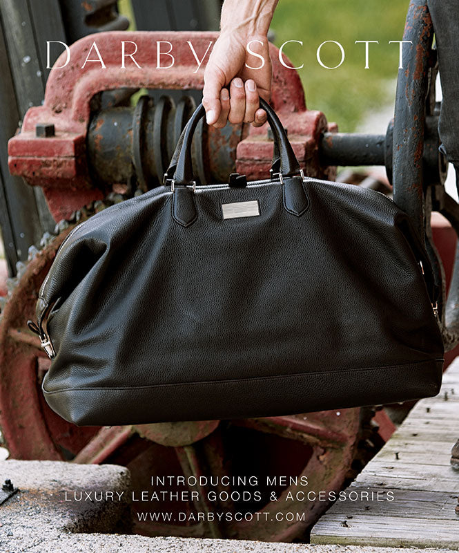 Black Leather Aspen Duffle Bag