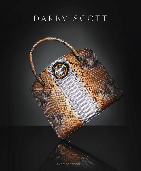 Darby Scott Python Annette Handbag on Black