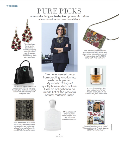 Darby Scott Profile on her favorite winter Accessoriesa