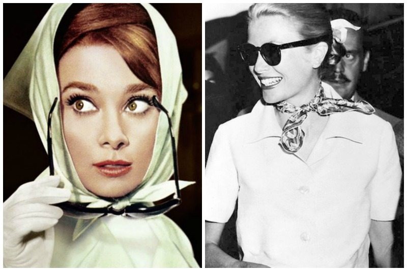 Grace Kelly in a silk scarf