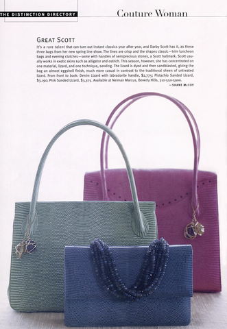 Thompson, Blair and Iconic handbags by Darby Scott