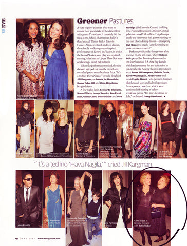 Celebrity page in W Magazine with Bette Middler holding Darby Scott Handbag