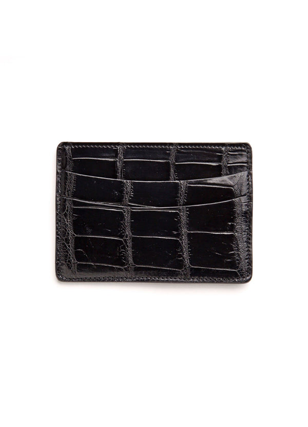 Black Crocodile Credit Card Case - Darby Scott