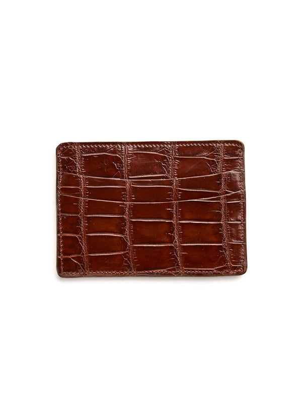 Chocolate Crocodile Credit Card Case - Darby Scott