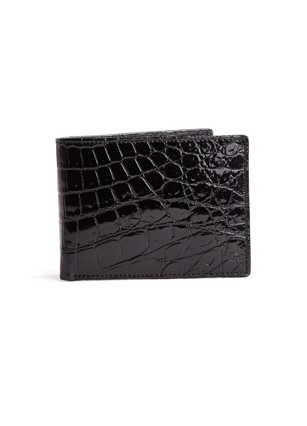 Black Nile Crocodile Classic Slim Bi-Fold Wallet - Darby Scott