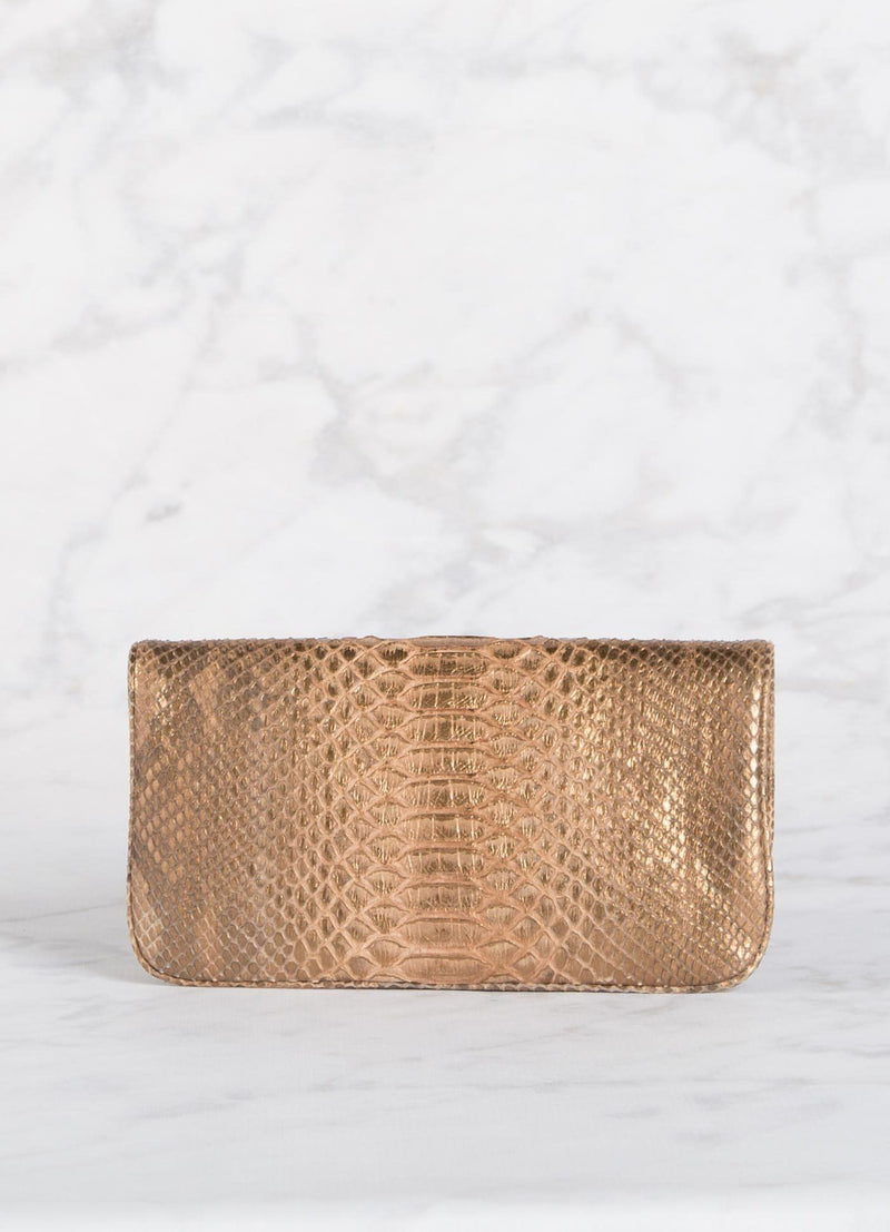 Back View of Bronze Mini Convertible Clutch - Darby Scott