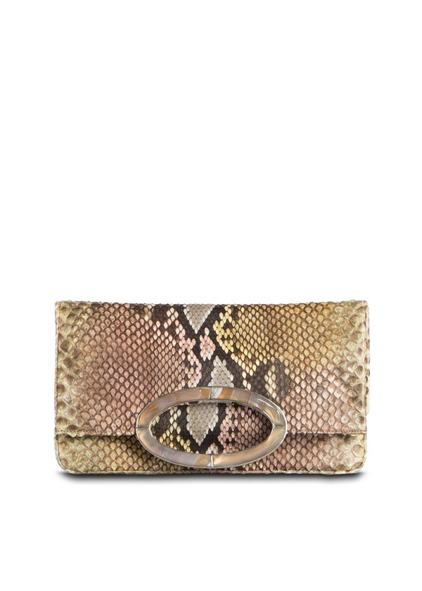 Closed view Pastel Multi Color Mini Convertible Fold over Clutch - Darby Scott