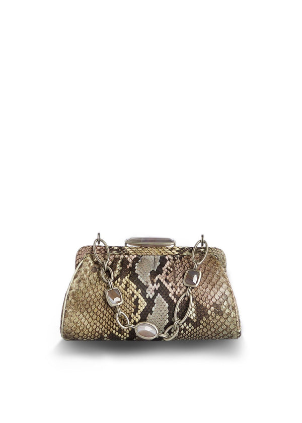 Pastel Colored Chain & Jewel Mini Handbag - Darby Scott