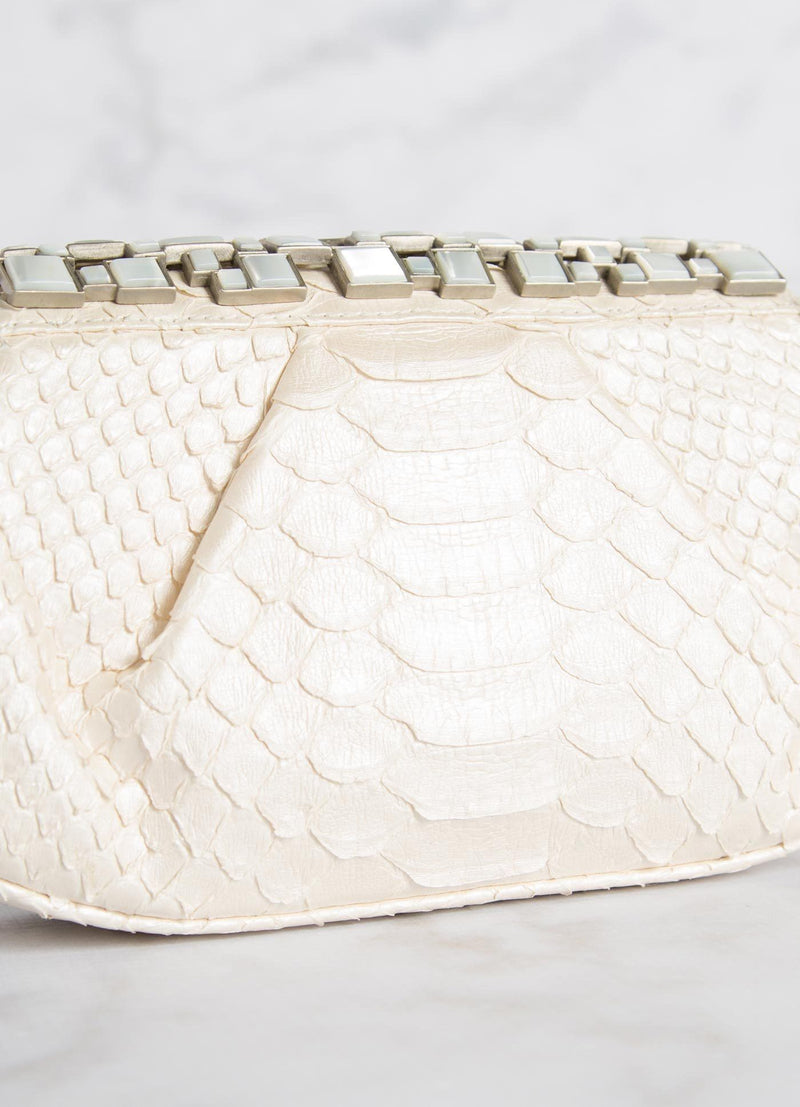 Pearl Art Deco Clutch Close Up View- Darby Scott
