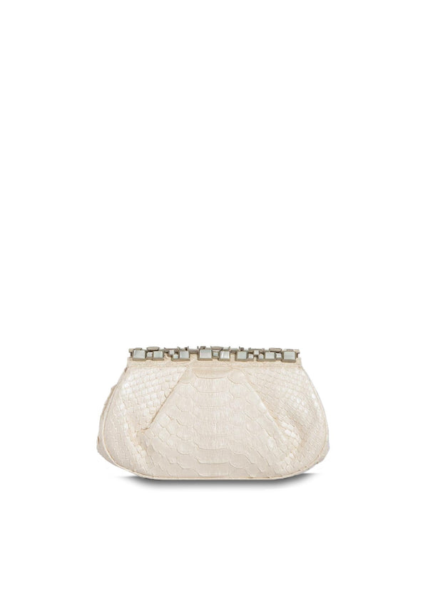 Pearl  Art Deco Clutch with Mother of Pearl Top - Darby Scott