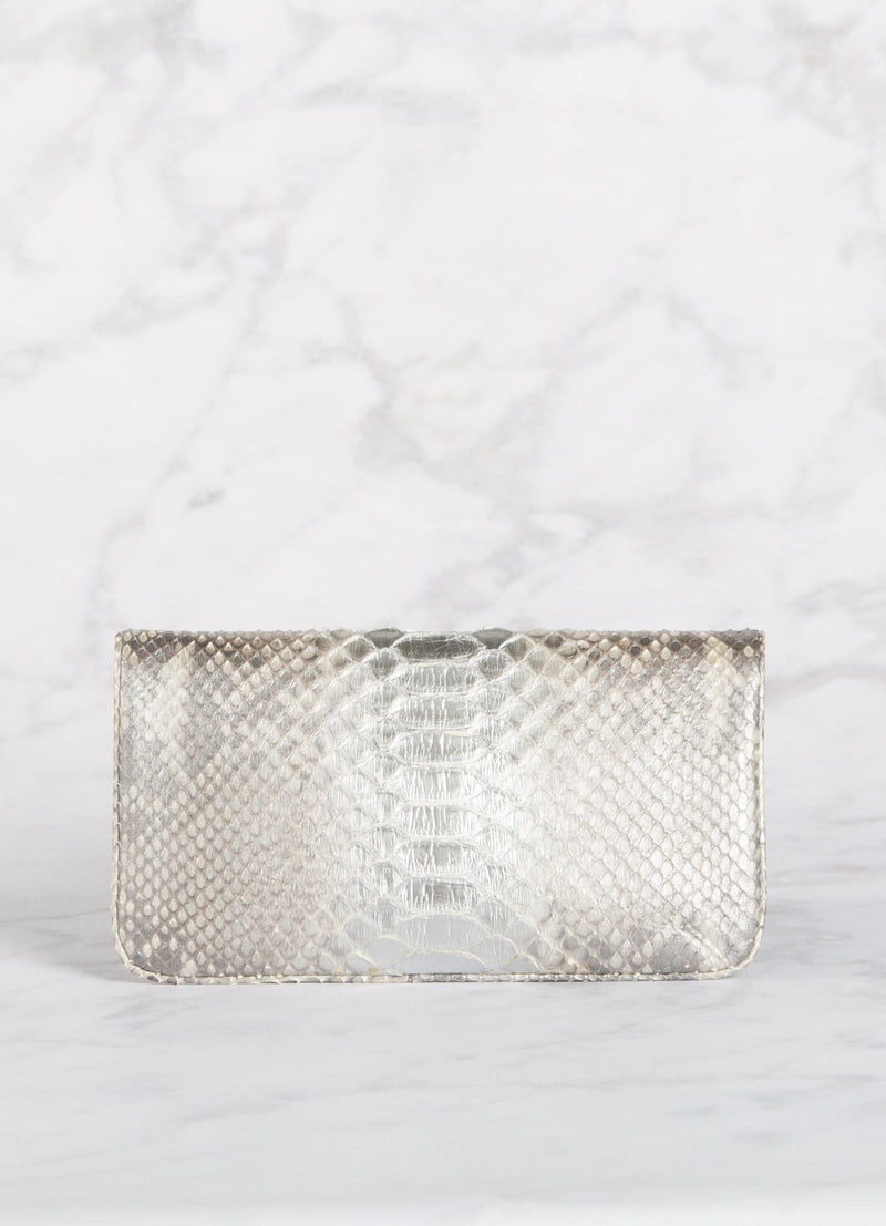 Back View of Silver Mini Convertible Clutch - Darby Scott