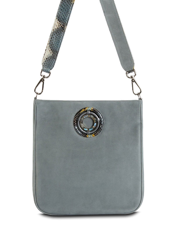 Denim Suede Cloe Crossbody Tote - Darby Scott--alternate