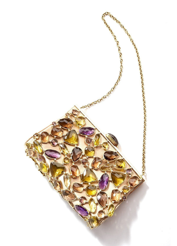 Jeweled Evening Handbag, 130 Gemstones & 225 Diamonds - Darby Scott