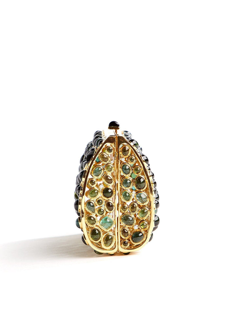Side view Jeweled Minaudiere, Tourmaline & Diamond - Darby Scott