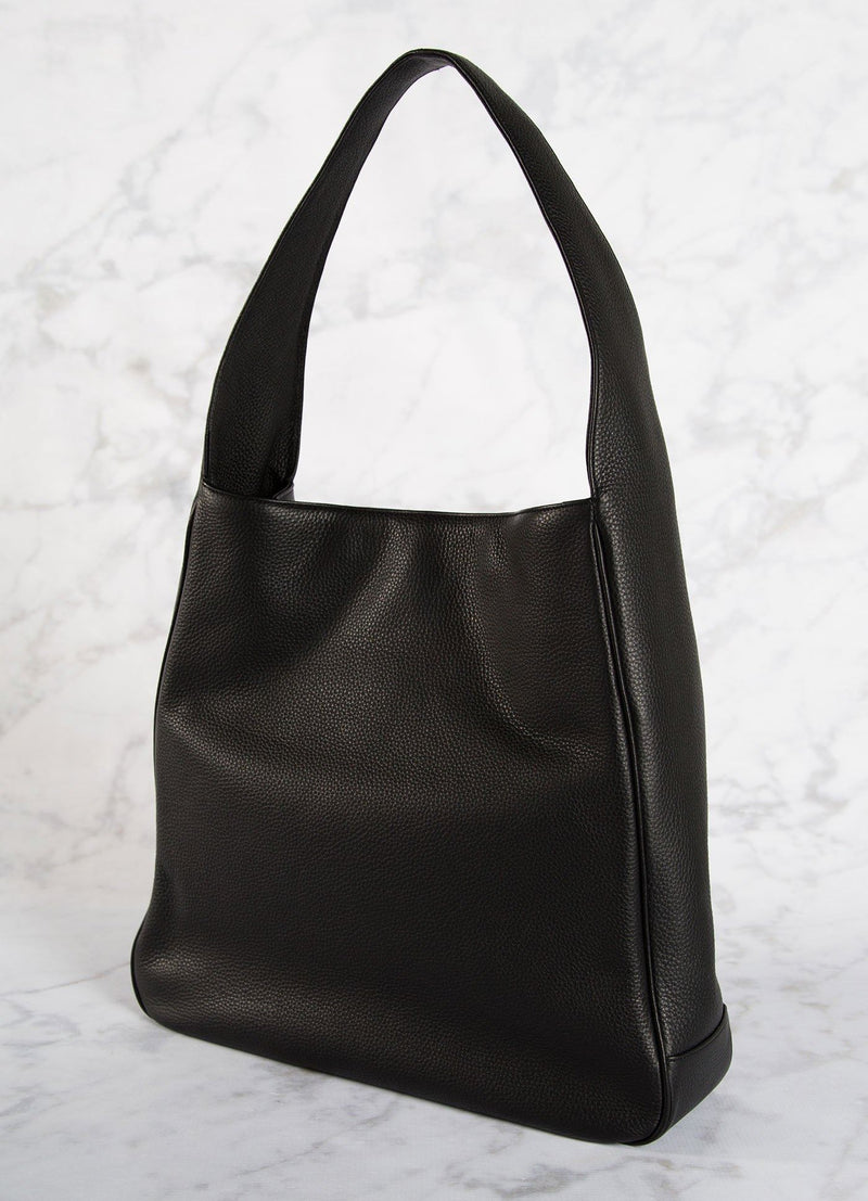 Back of Black Leather Paige Hobo - Darby Scott