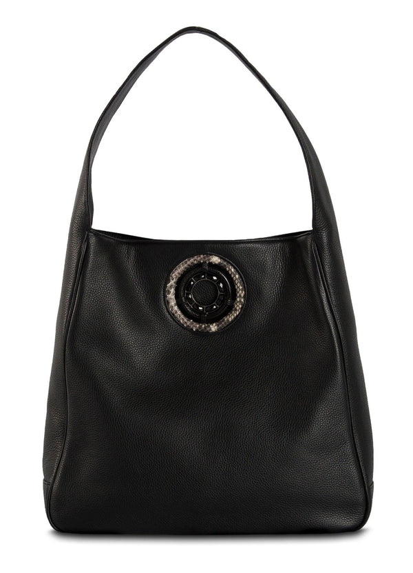 The Paige Hobo in Black Leather - Darby Scott--alternate