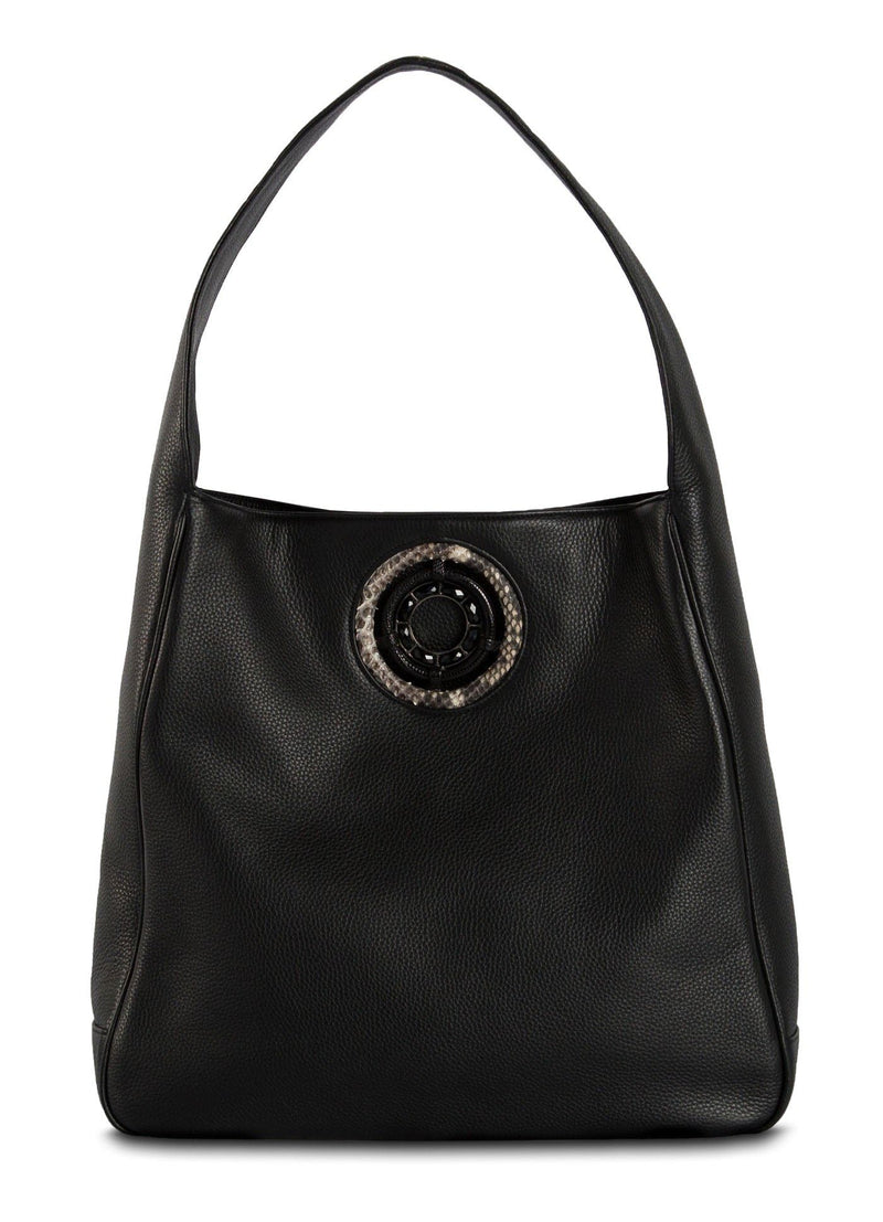 The Paige Hobo in Black Leather - Darby Scott