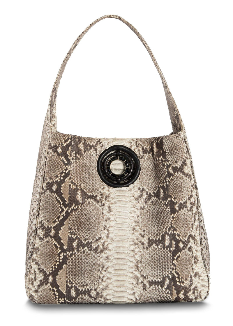Natural Paige Hobo with Black Onyx Grommet - Darby Scott