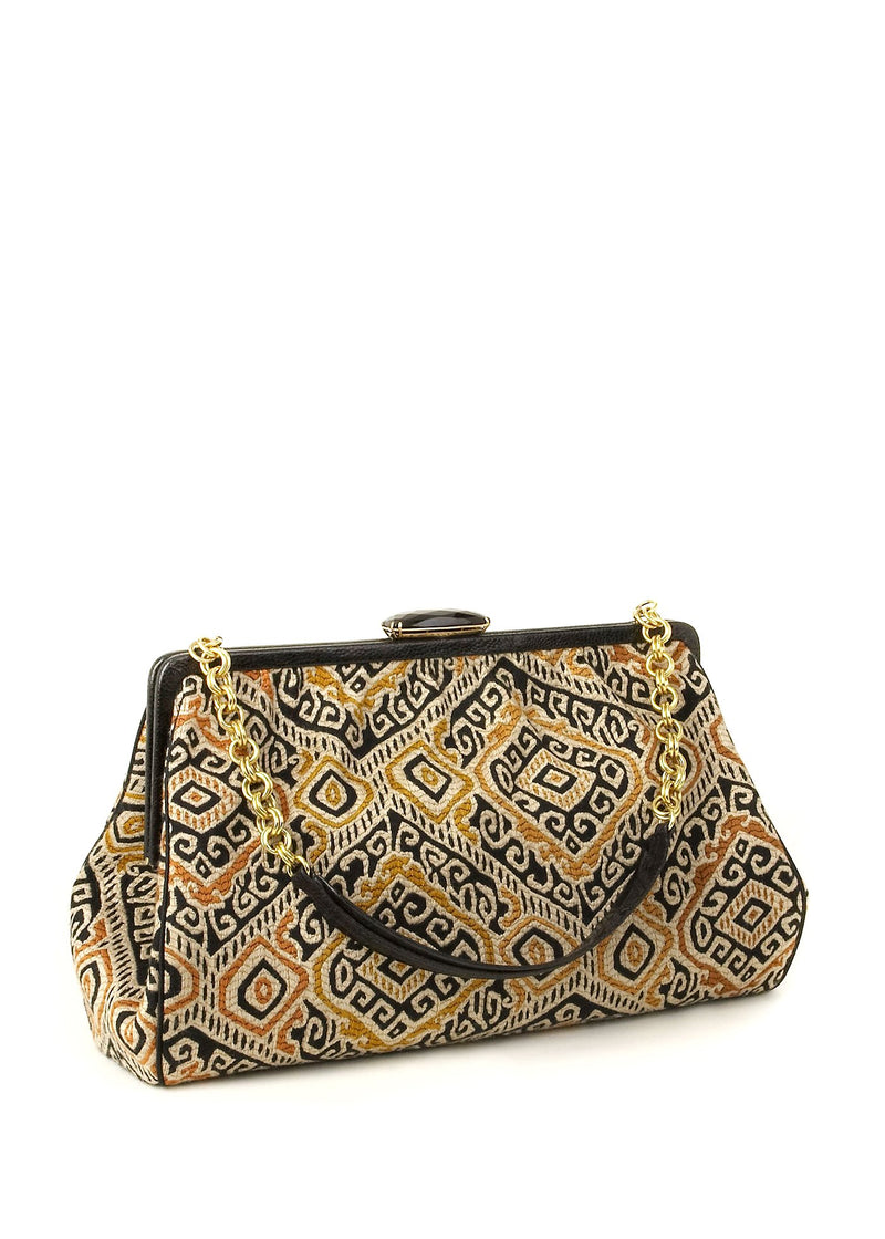 Bold textile shoulder bag - Darby Scott