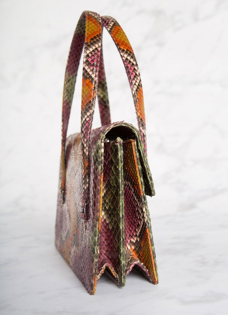 Side of an Emelia Monogram Tote in Multi-Color - Darby Scott