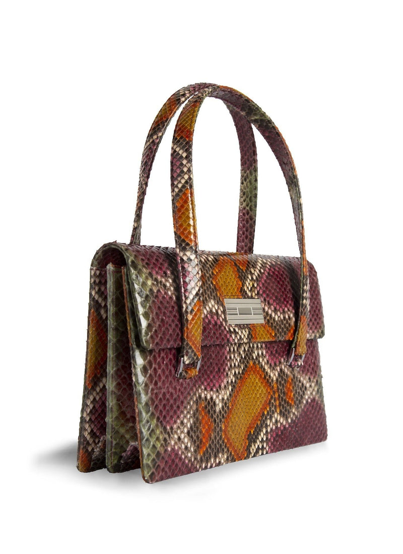 Cranberry multi-color Emelia Monogram Tote - Darby Scott