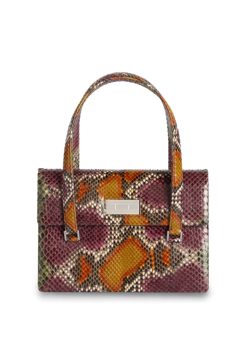The Emelia Monogram Tote in Cranberry & Orange multi - Darby Scott
