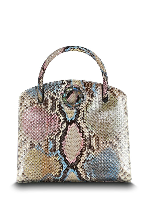 Pastel Annette Top Handle Tote Front View - Darby Scott
