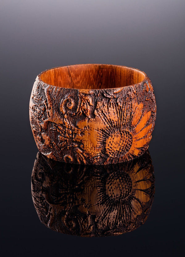 Tropical Wood Bangle Bracelet - Darby Scott--alternate