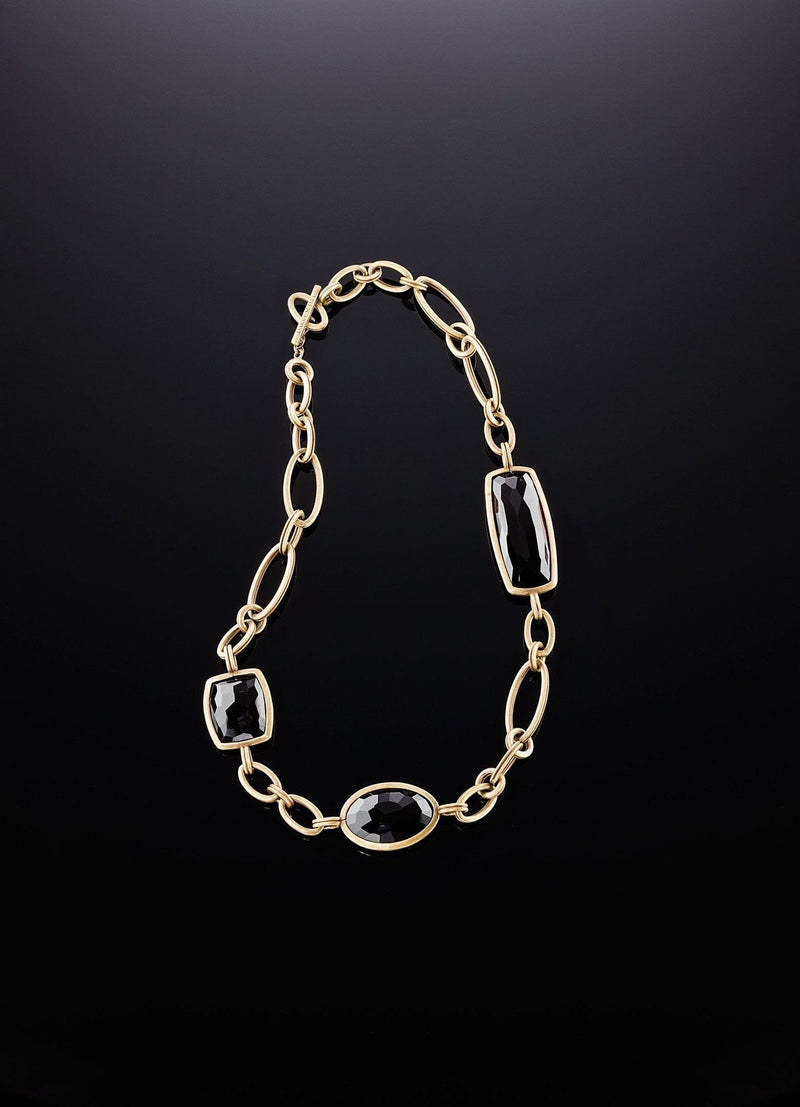 Lay down of Smokey Topaz Chain Link Necklace - Darby Scott