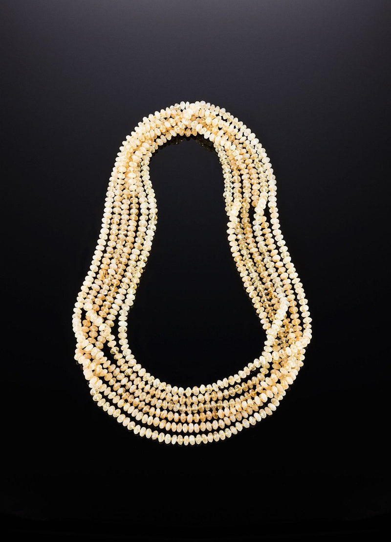 Set of Five Continuous Strands of Faceted Citrine Beads - Darby Scott