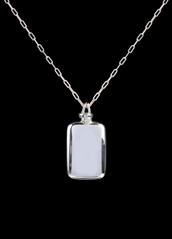Sterling Silver Perfume Flask Oblong Pendant - Darby Scott--alternate
