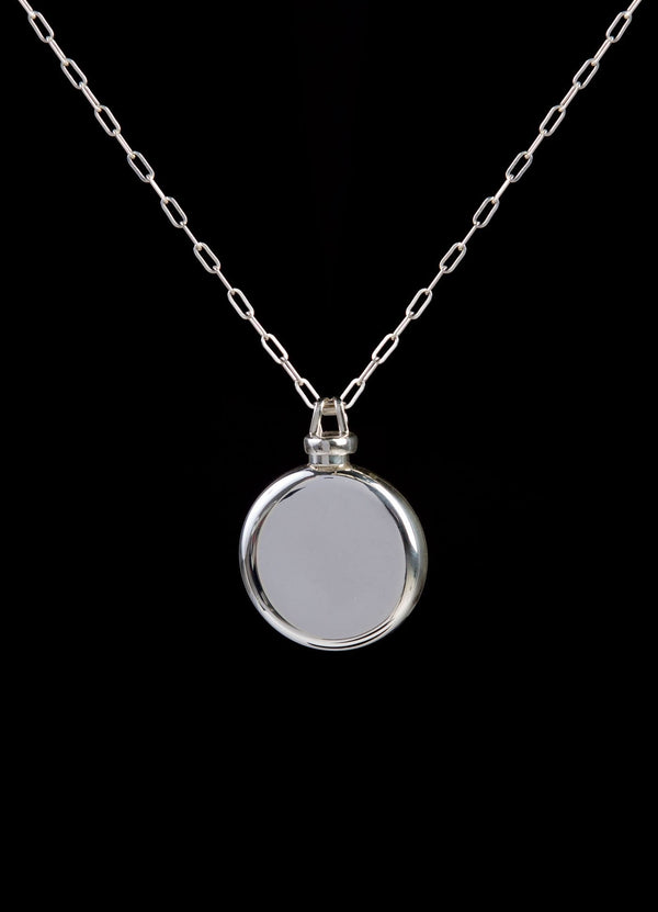 Sterling Silver Perfume Flask Round Pendant   - Darby Scott--alternate