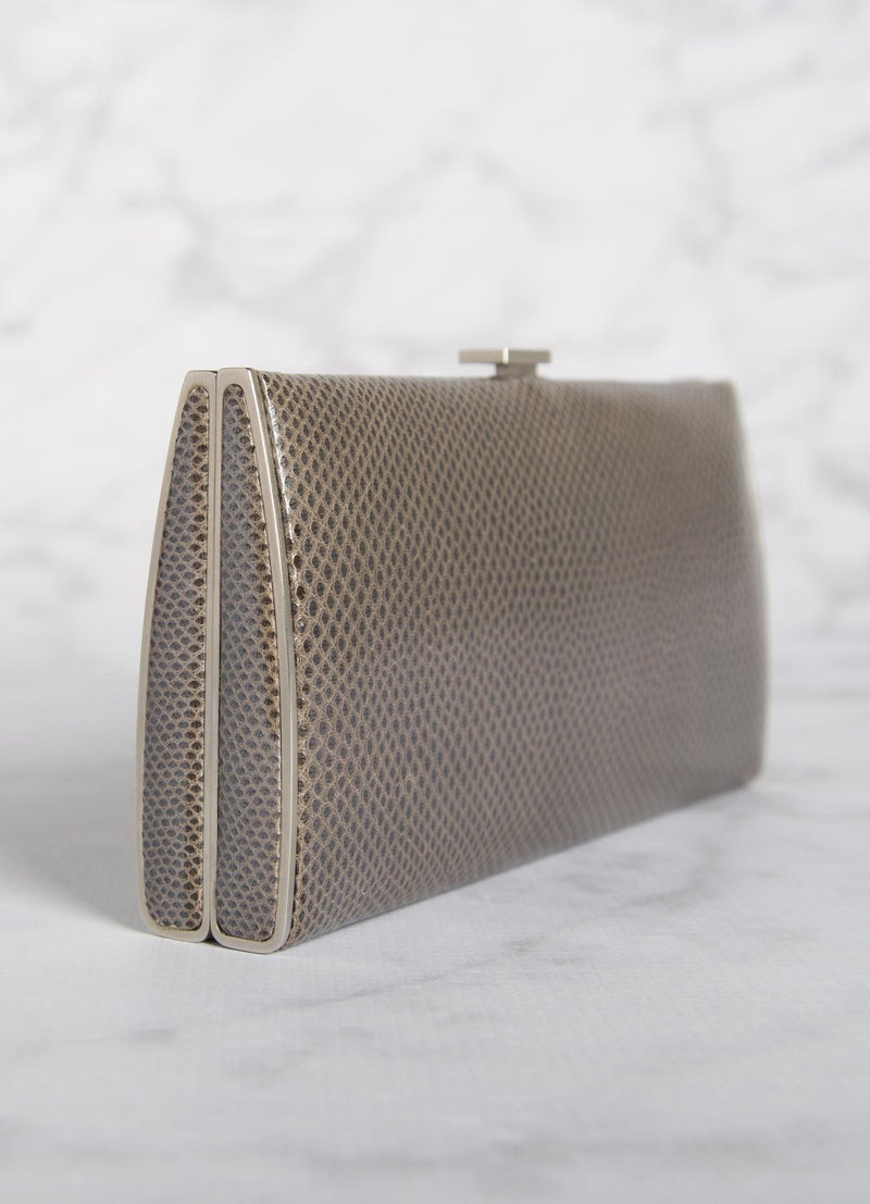 Grey Karung Box Wallet, Side View - Darby Scott