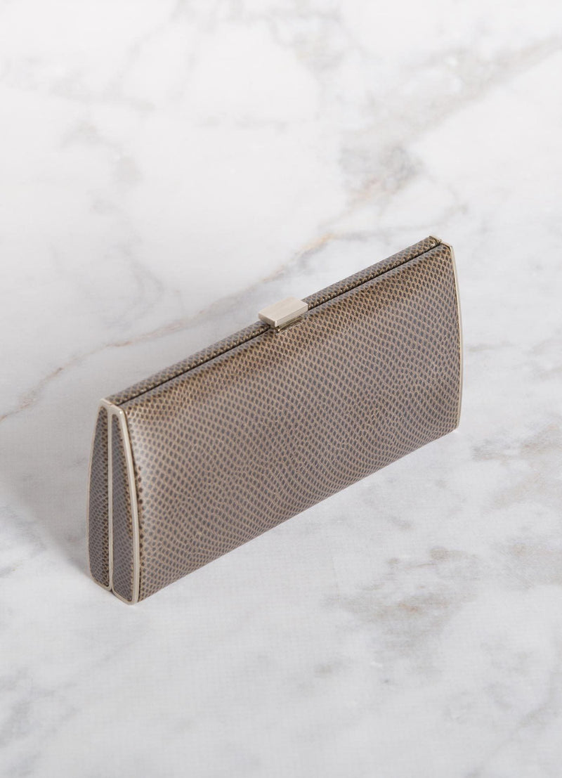 Grey Karung Box Wallet, Above View - Darby Scott