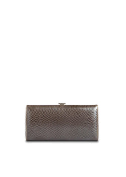 Grey Karung Box Wallet, Front View - Darby Scott