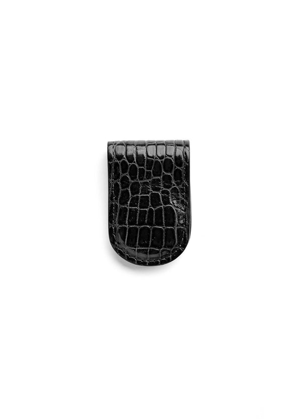 Black Crocodile Money Clip - Darby Scott