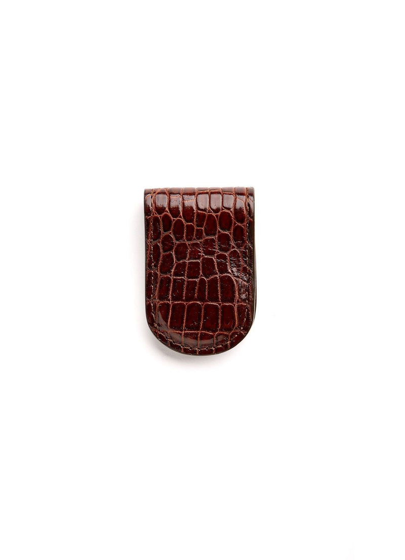 Brown Crocodile Money Clip - Darby Scott