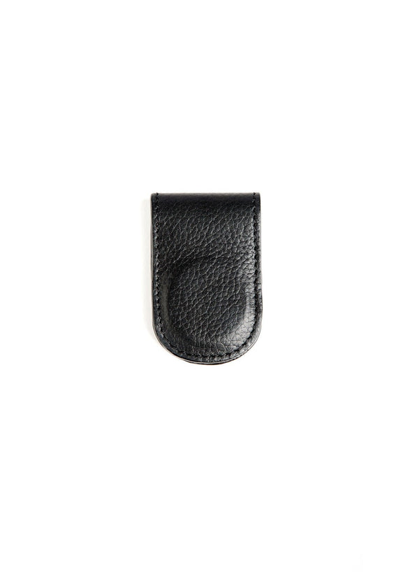 Black Leather Money Clip - Darby Scott