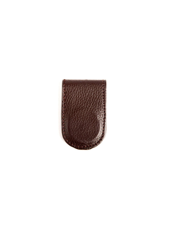 Brown Leather Money Clip - Darby Scott